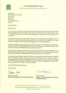 MPs letter plastic